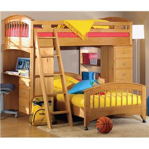 Renar Furniture Contempo Youth Loft Bed