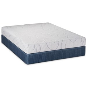 "Twin Extra Long 10"" Gel Memory Foam Mattress and Low Profile Wood Foundation"
