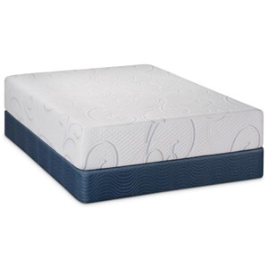 "Twin Extra Long 12"" Gel Memory Foam Mattress and Wood Foundation"