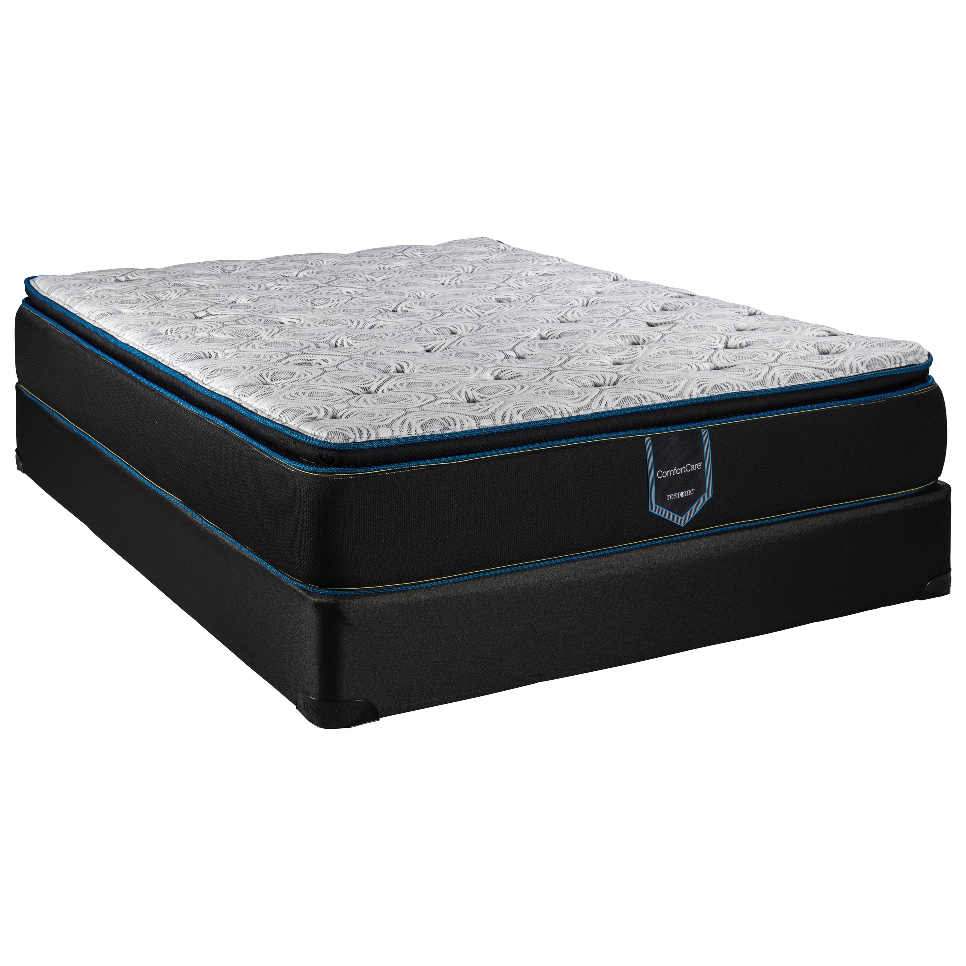 "Arcadia Pillow Top King 13"" Pillow Top Low Profile Set by Restonic at Wilcox Furniture"