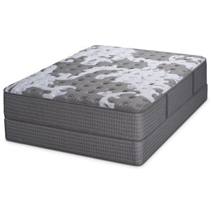 Queen Firm Pocketed Coil Mattress and Foundation
