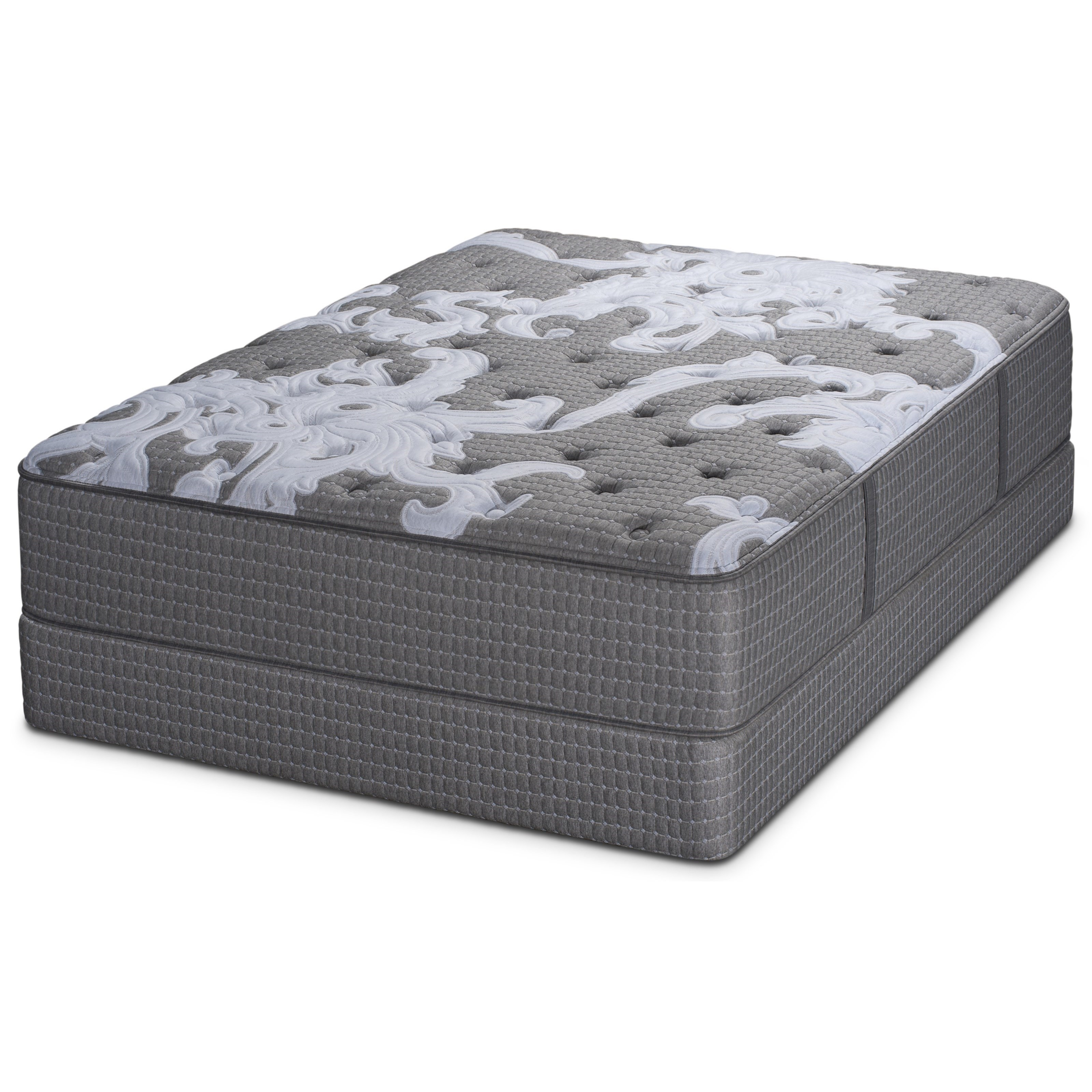 Beginning Plush Twin Pocketed Coil Mattress Set by Restonic at Wilcox Furniture