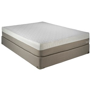 "Twin Extra Long 10"" Gel Memory Foam Mattress and 5"" Low Profile HealthRest Foundation"