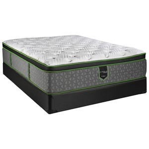 "Twin 15"" Plush Hybrid Euro Top Mattress and Comfort Care High Profile Foundation"