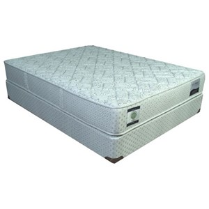 """Full 12"""" Firm Two Sided Mattress and Comfort Care Low Profile Foundation"""