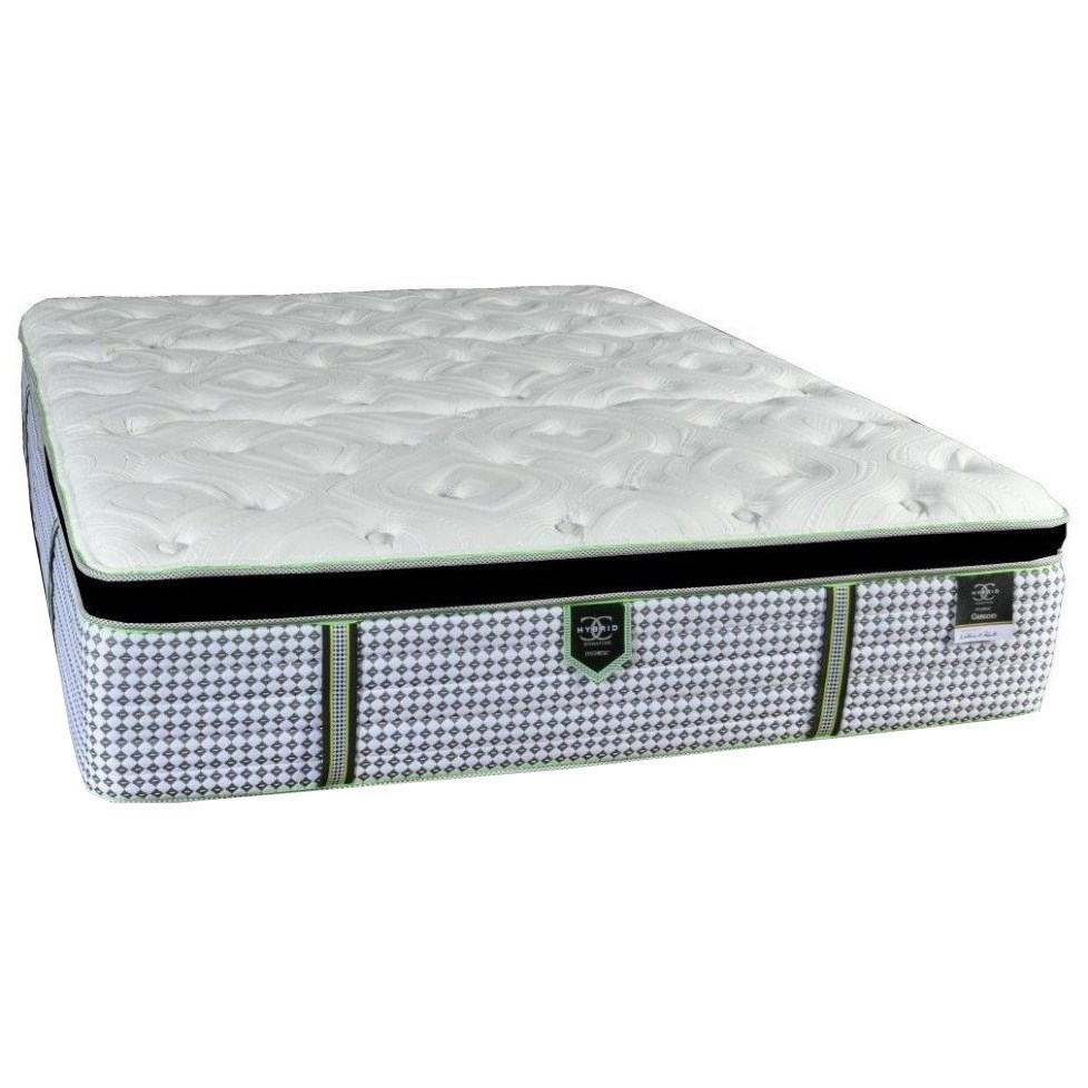 Gregory EPT Queen Euro Pillow Top Adjustable Set by Restonic at H.L. Stephens