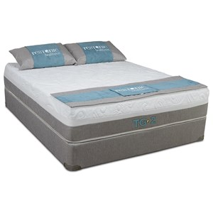 "Twin Extra Long Memory Foam Mattress and 5"" Low Profile Healthrest Foundation"