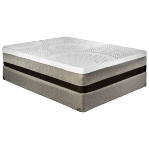 "Twin Extra Long 12"" Gel Memory Foam Mattress and 5"" Low Profile Healthrest Foundation"