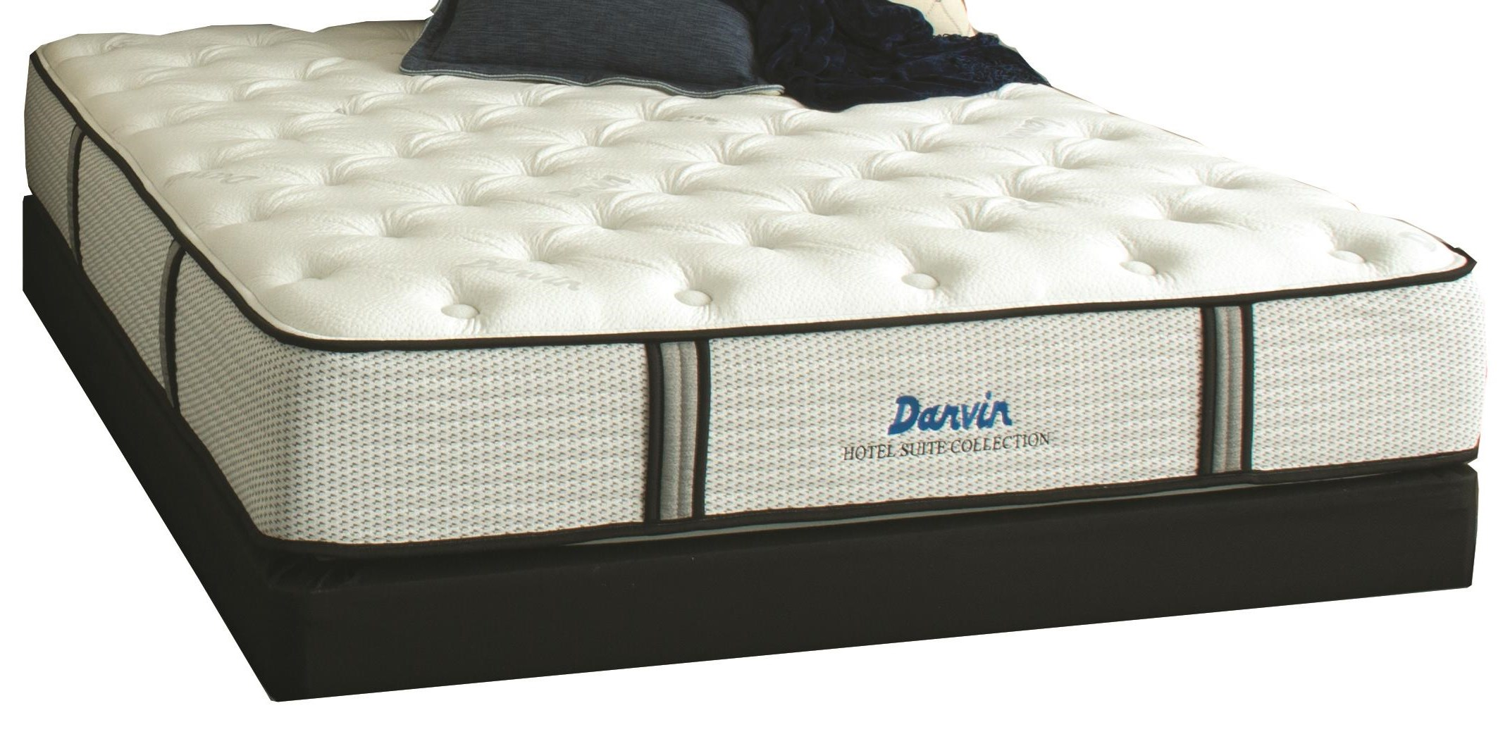 Hotel Suite Luxury Firm Queen Mattress Set by Restonic at Darvin Furniture