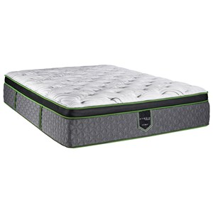 "Queen 14 1/2"" Euro Top Plush Hybrid Mattress"