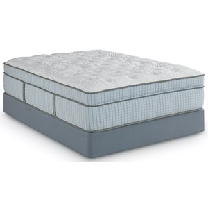 Full Euro Top Coil on Coil Mattress and Scott Living Universal High Profile Foundation