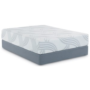 "King 12"" Memory Foam Mattress and Scott Living Universal Low Profile Foundation"