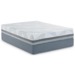 King Hybrid Mattress and Scott Living Universal Low Profile Foundation