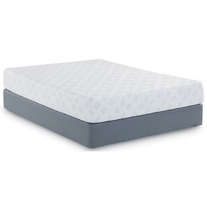 "Full 10"" Memory Foam Mattress and Scott Living Universal Low Profile Foundation"