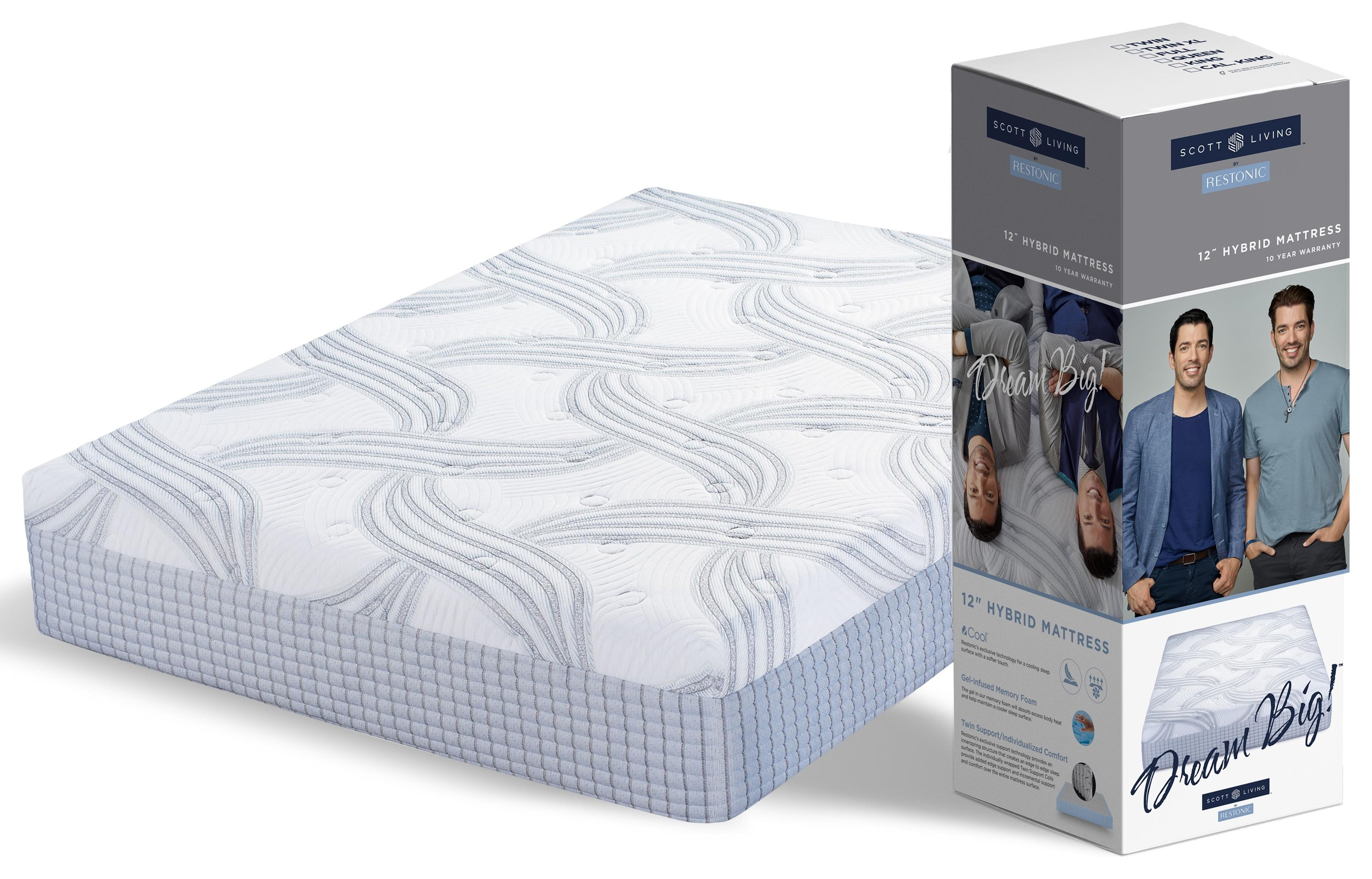 SL Hybrid SS Scott Living Queen Hybrid Mattress in a Box by Restonic at C. S. Wo & Sons Hawaii