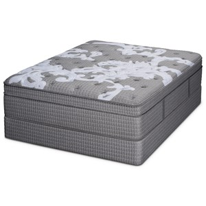 Queen Euro Top Pocketed Coil Mattress and Foundation