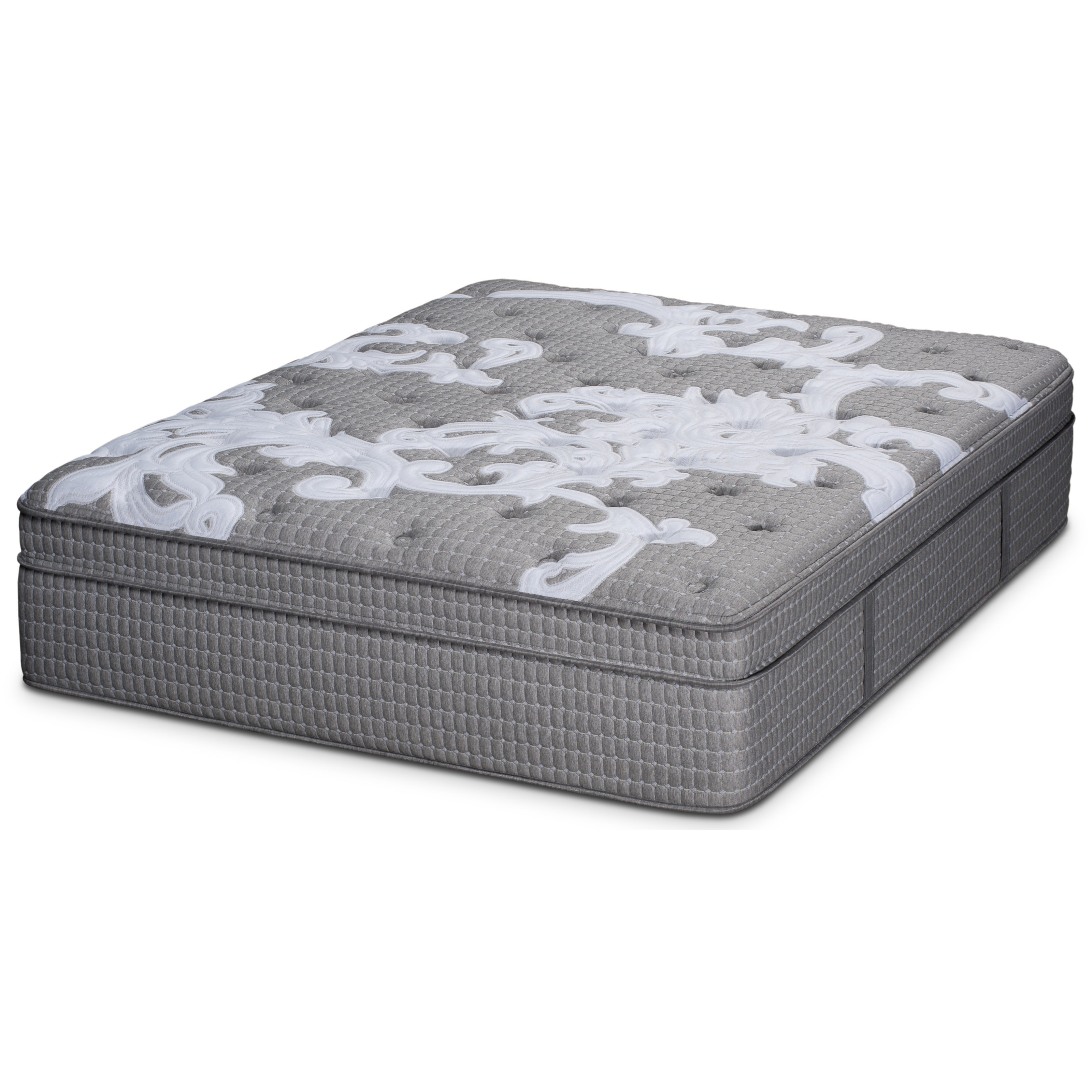 Sunlight ET Queen Pocketed Coil Mattress Set by Restonic at Wilcox Furniture