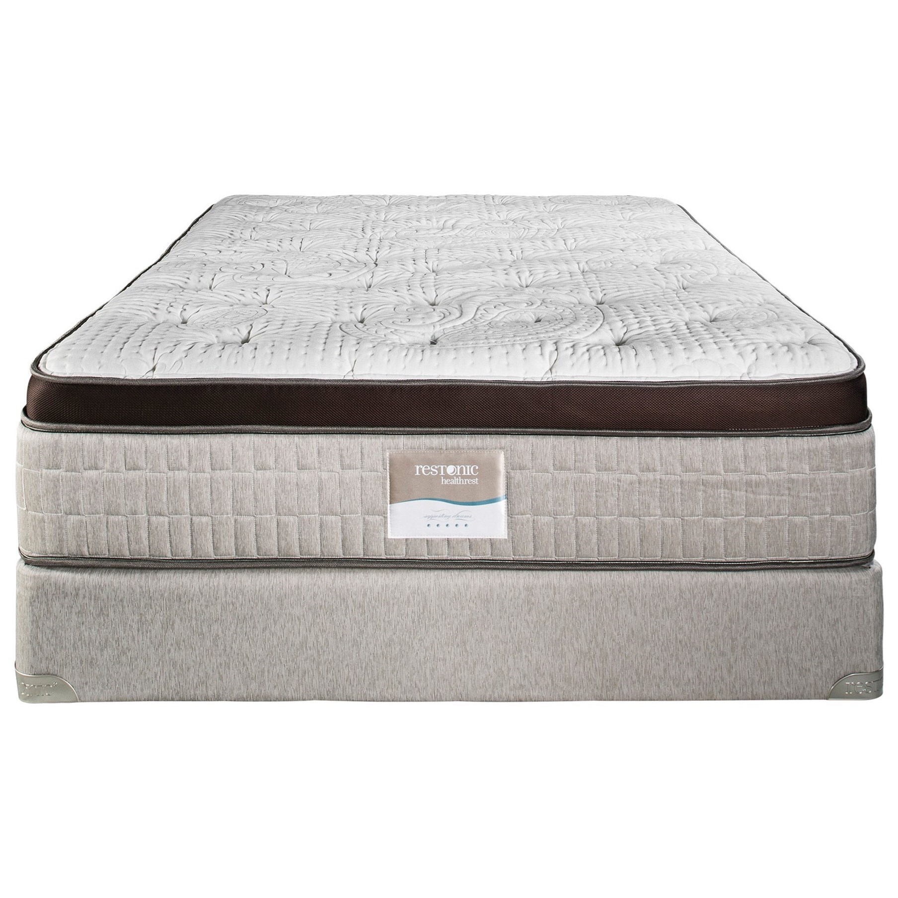 """Vienna Euro Top firm Full 15"""" Firm Euro Top Latex Mattress Set by Restonic at H.L. Stephens"""