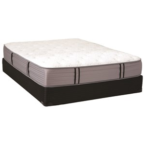 Queen Plush Pocketed Coil Mattress and Premium Wood Foundation