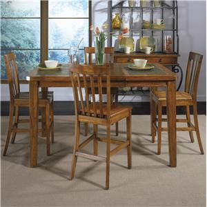 Rustic Rectangular Dining Table and Slat Back Chairs