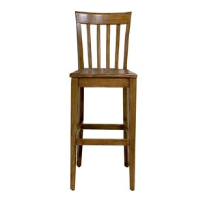 Slat Back Bar Stool