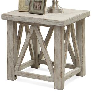 End Table with Light Distressing