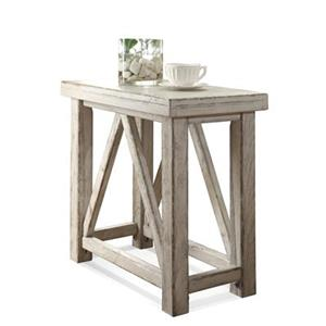 Chairside Table with Physical Distressing