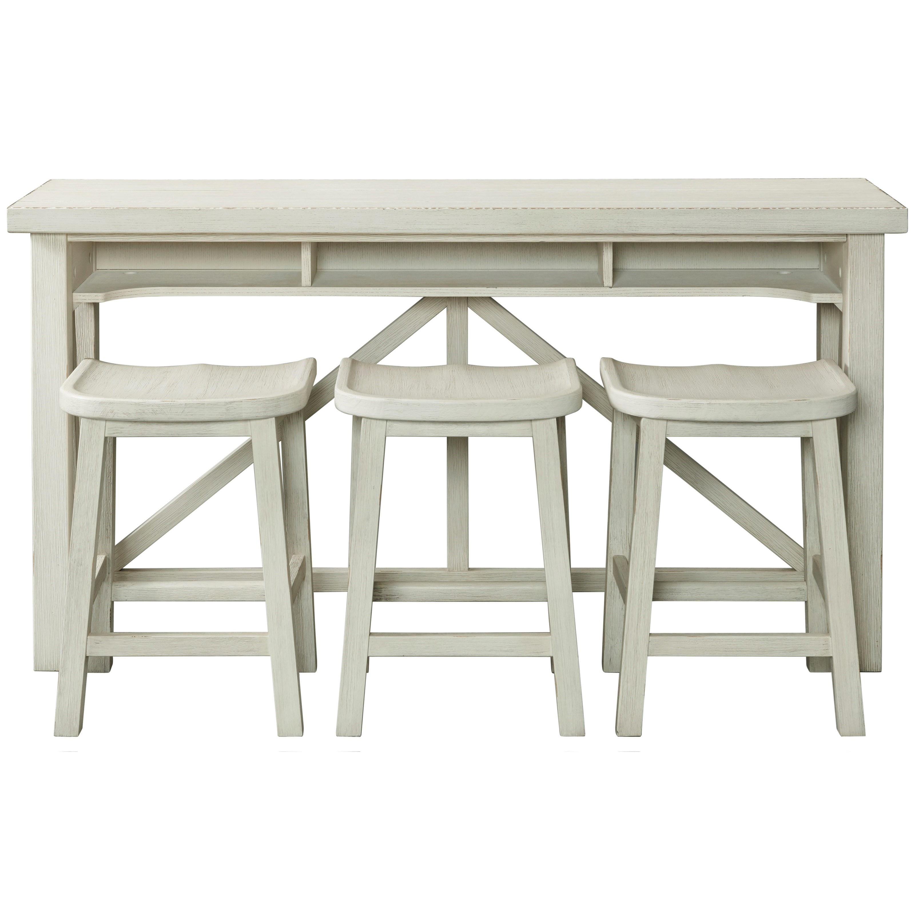 Aberdeen Sofa Table with Stools by Riverside Furniture at Reid's Furniture