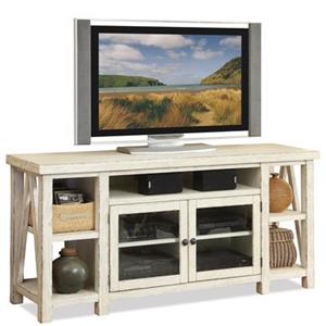 TV Console with Open Shelving