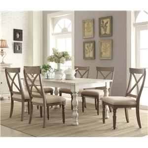 7 Piece Farmhouse Dining Set