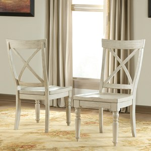 X-Back Side Chair with Turned Front Legs