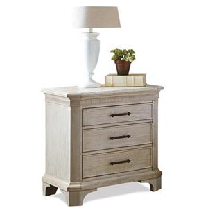 3 Drawer Nightstand with Electric Outlet Bar