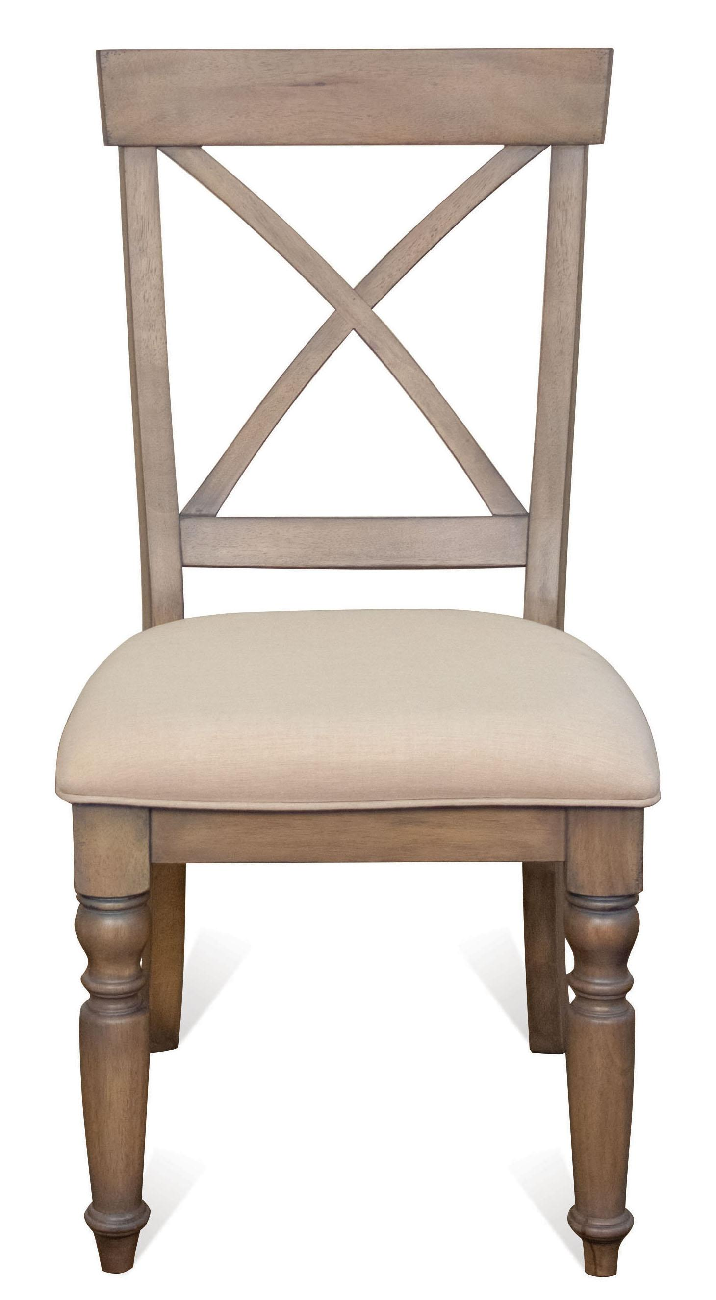 Aberdeen X-Back Side Chair by Riverside Furniture at Johnny Janosik