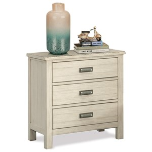 3-Drawer Nightstand with Dual USB Charging Port