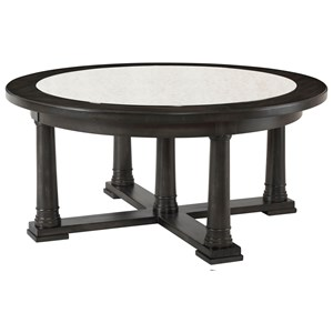 Transitional Round Cocktail Table