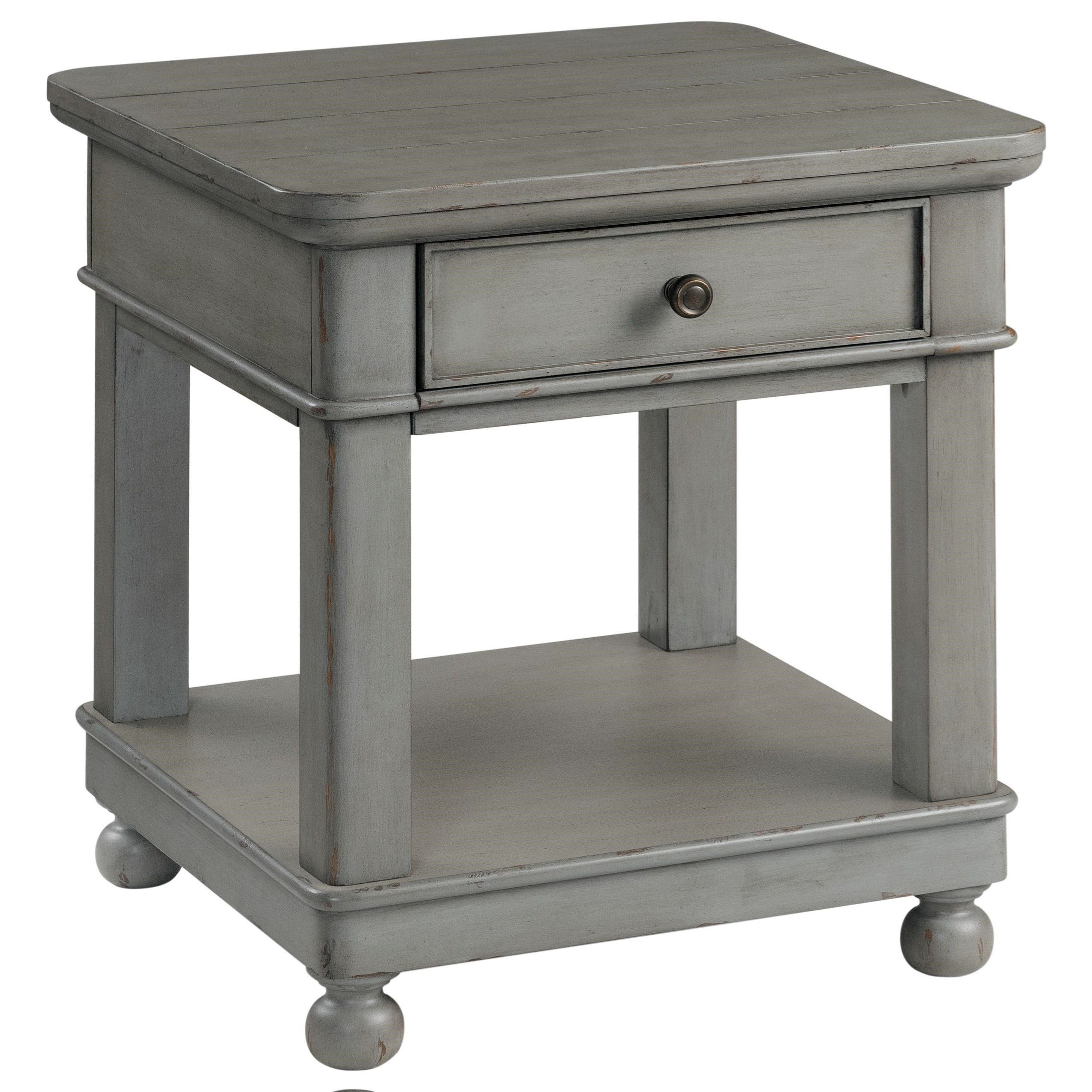 Bella Grigio Square End Table by Riverside Furniture at Mueller Furniture