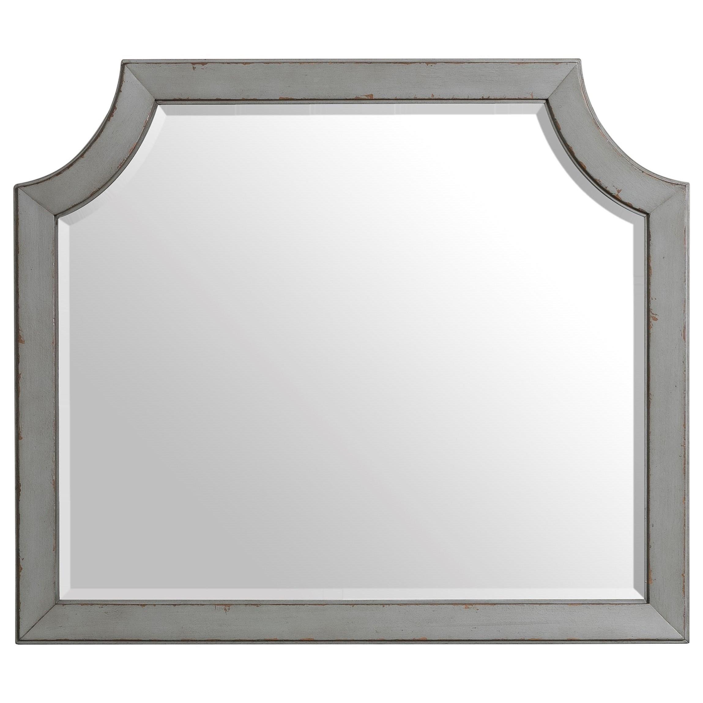 Bella Grigio Mirror by Riverside Furniture at Mueller Furniture