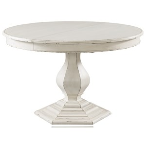 """Farmhouse Round Dining Table with 18"""" Leaf"""