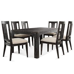 Riverside Furniture Bellagio 76- Inch Dining Table and Chair Set