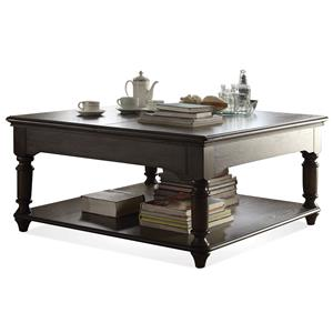 Riverside Furniture Belmeade Square Lift-Top Coffee Table