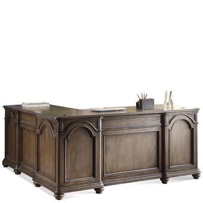 Belmeade L-Desk & Return by Riverside Furniture at A1 Furniture & Mattress