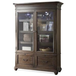 Large Bookcase w/ Glass Doors