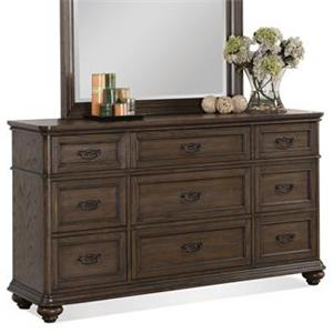 9-Drawer Dresser w/ Rounded Molding