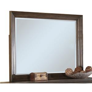 Framed Beveled Landscape Mirror