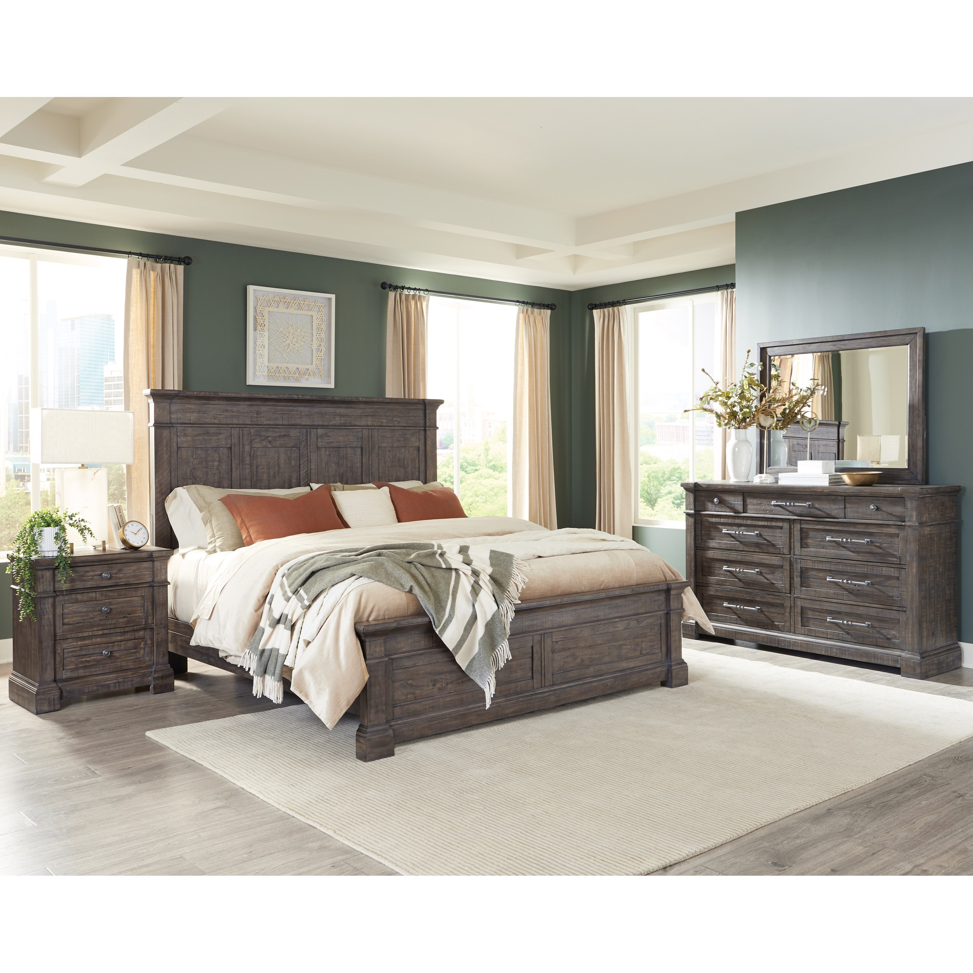 Bradford Queen Bedroom Group  by Riverside Furniture at Zak's Home