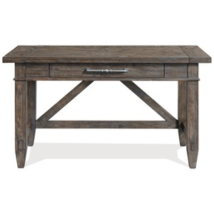 Rustic Traditional Writing Desk with Outlets and USB Chargers