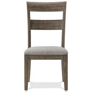Ladder Back Upholstered Side Chair
