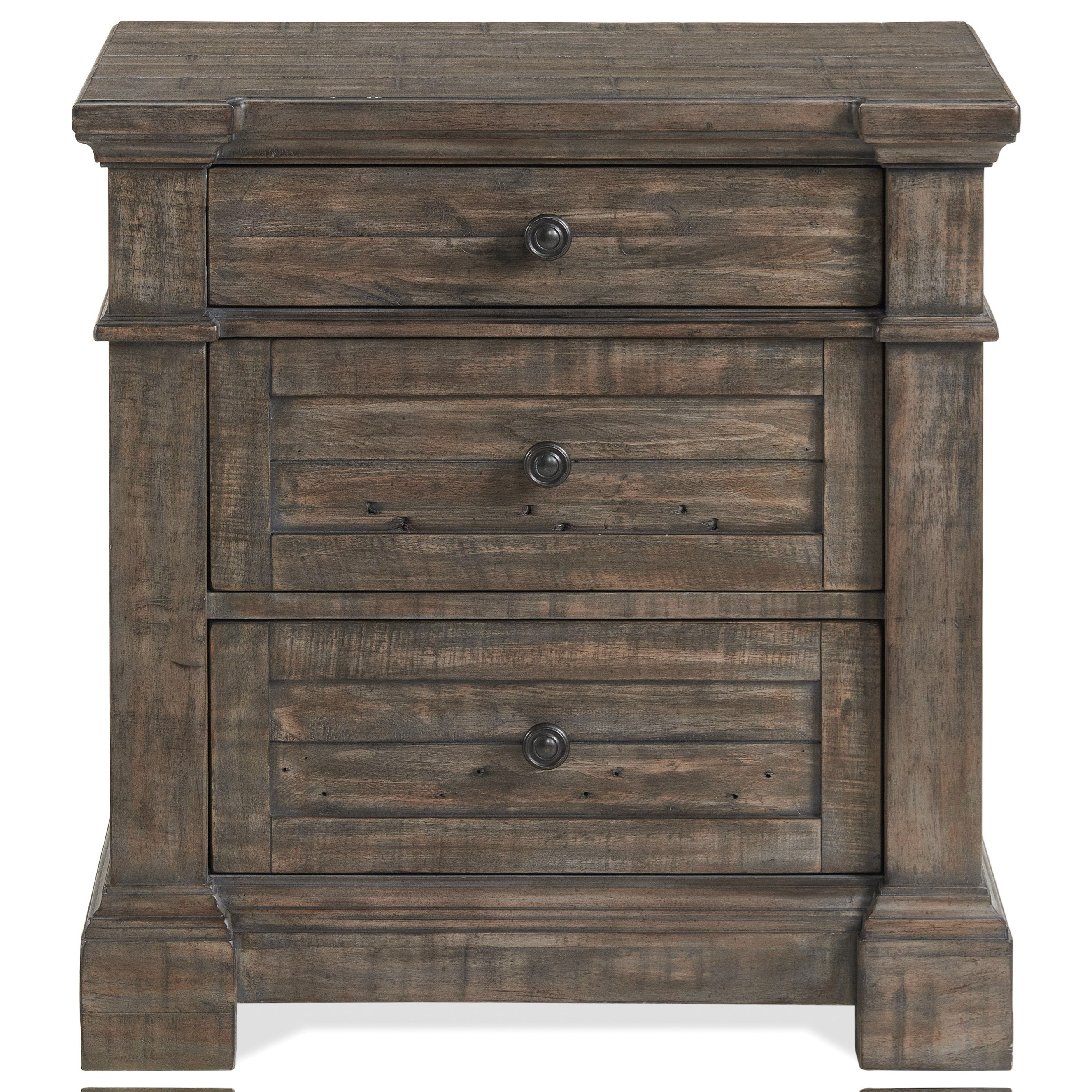 Bradford 3-Drawer Nightstand by Riverside Furniture at Zak's Home