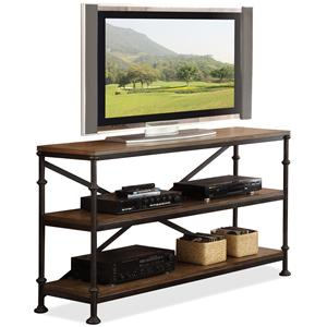 Rectangular Console Table with 2 Shelves