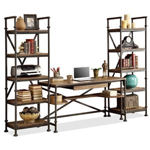 Open Office Wall Unit with 11 Shelves